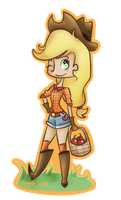 Human AppleJack. by MentaGranizada