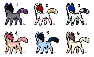 Adoptable batch 38 OPEN 3 LEFT by RavensAdoptables