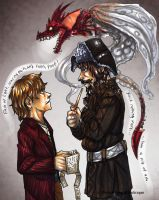 Bilbo n Bofur : Elaboration by Kabudragon