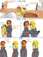 The life of Deidara and Tobi by aalif