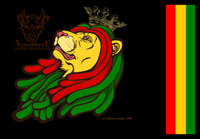 Rasta Lion by Xenothere