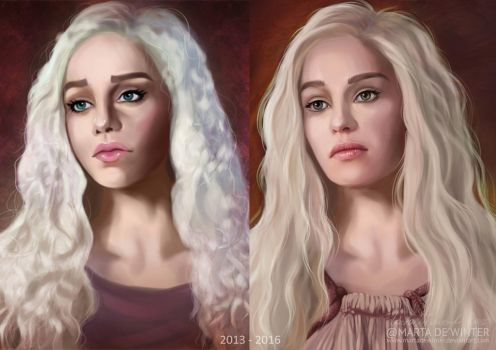 Danerys OLD vs NEW by MartaDeWinter