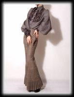Brown Wool Wide Leg Jumpsuit 8 by yystudio
