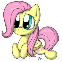 Unsure Fluttershy by Laffy372