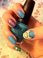 Adventure time nails #1 by lulutetium