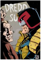 Dredd sketch colored by RougeDK