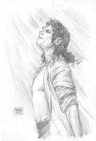 King Of Pop Sketch by edtadeo