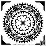 Tribal Circle Flower by Duw