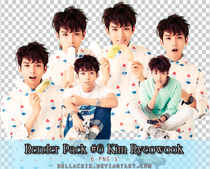 Render Pack #6 Kim Ryeowook by Bellacrix