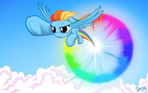Rainbow Dash Sonic Rainboom by mysticalpha