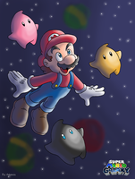 Super Mario Galaxy by adamis