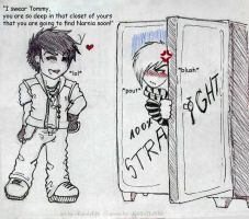 Tommy in the closet by KarolaKH