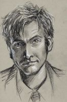 portrait practice - David Tennant as the Doctor by oboe-wan