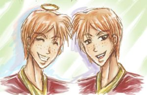 Fred and George Weasley by AStudyInScarlet