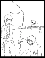 Cursed OCT round 1 Cover WIP- Red VS Lance by uchiha-13