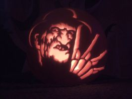 Pumpkin Carving-Freddy Krueger by xxSHMEExxZIMxx