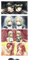 CLAMP's twins by jaydcpurple
