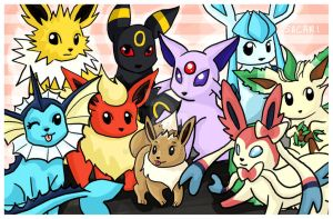 Eeveelutions by Sacari