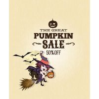 Vector Witch on the great Pumpkin Sale Poster Temp by cgvector
