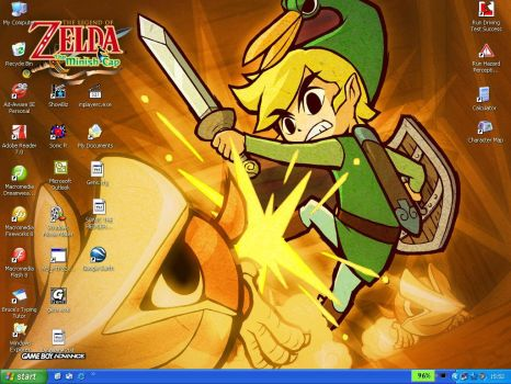 Minish cap desktop by Messengerrobo