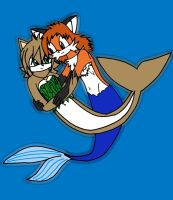 :The mercat And The merfox: by BlackRose140792