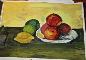 My interpritation or 'Still Life With Fruit' by ClareAmyJoyHurley