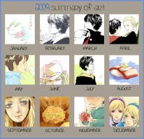 2009 Summary of Art MEME by luthienelf