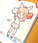 [doodle] Cheering Bunny by LittleUsa-chan
