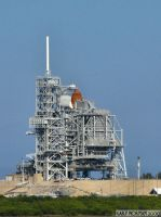 The Shuttle on the Pad by buddhabear