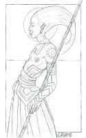 papuan lineart by gremo-stock