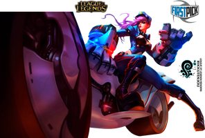 Officer Vi League of Legends Render by ViciousBlue