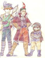 Steampunk Groose, Cawlin, and Strich by InvaderSonicMx
