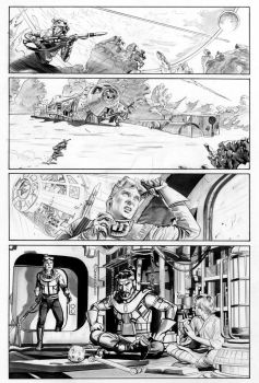 THE STAR WARS #1 Page 2 Line Art by mikemayhew