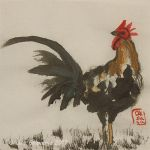 Rooster -ink by Oksana007