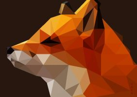 low poly fox by Caen-N