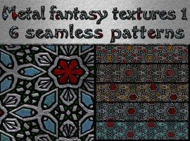 Metal fantasy textures 1 by jojo-ojoj