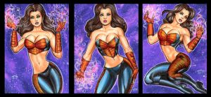 ULTIMATE SCARLET WITCH PERSONAL SKETCH CARDS by AHochrein2010