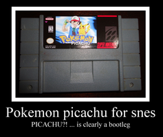Pokemon picachu  for snes by Maleiva