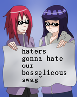 Karin and hinata: haters gonna hate their swag by itasasu2002