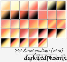 Hot Sunset gradients set01 by darkicedphoenix