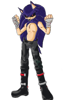 Sonic exe image final ver 1 without poncho by gokuhappymonkey