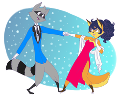 Sly and Carmelita don't dance by professorMarion