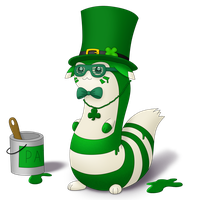 St. Patrick's Day Furret