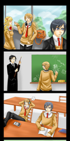 Alois and Ciel in school by Nakutan