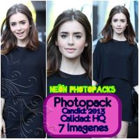 Photopack Lily Collins by Jazminswag-Editions