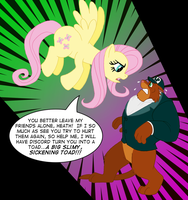 Fluttershy and Heath by BennytheBeast