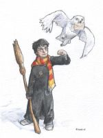 Harry and Hedwig by Pika-la-Cynique