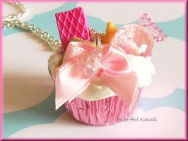 Sweet Pink Cuppin Cake by ImperfectKawaii