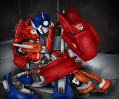 I Need You - Causeway and Optimus Prime by Lady-ElitaOne