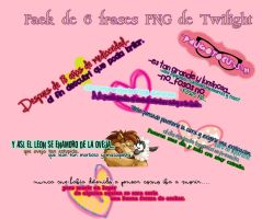 PACK DE 6 FRASES PNG TWILIGHT ~PauGotoCulSin by PauGotoCulSin